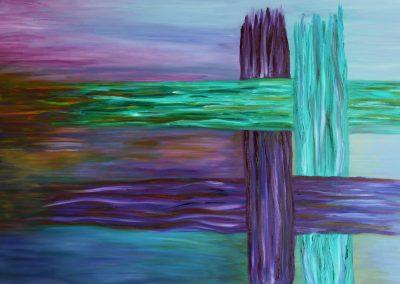 5. Simon van Cyrene helpt Jezus het kruis dragen